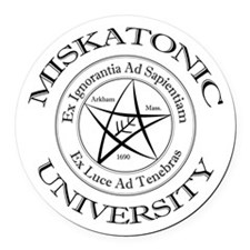 Miskatonic University Round Car Magnet