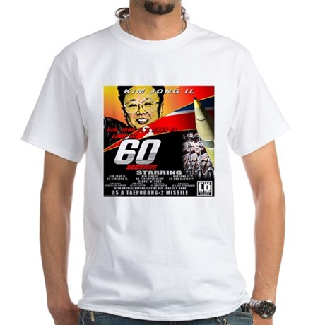 Anti Kim Jong Il White T-Shirt