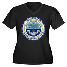 Micronesia Coat Of Arms Women's Plus Size V-Neck D
