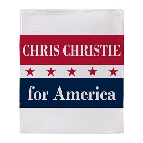 Chris Christie for America Throw Blanket