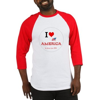 I Love America Men's Baseball Jersey