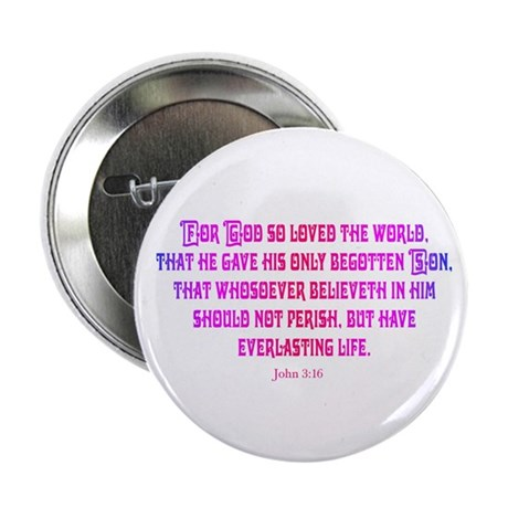 John 3:16 Rainbow II Button
