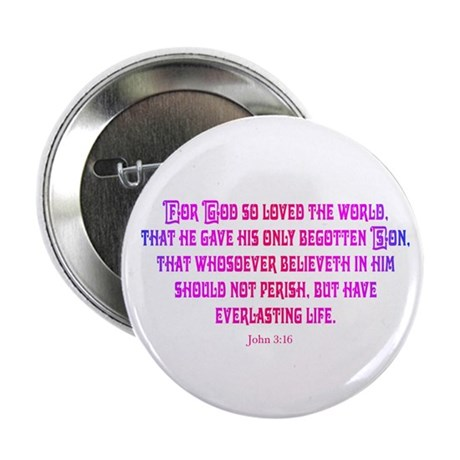 "John 3:16 Rainbow II 2.25"" Button (10 pack)"