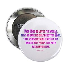 John 3:16 Rainbow II 2.25&quot; Button (10 pack)