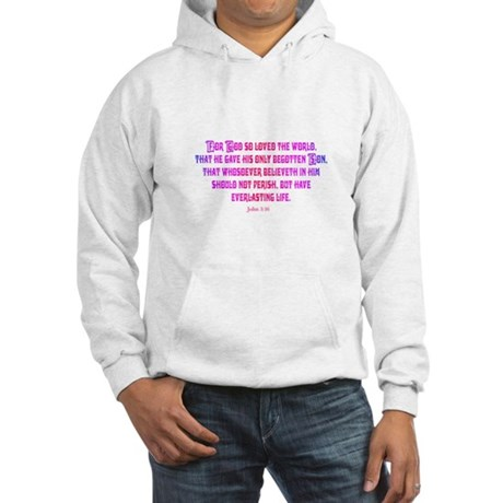 John 3:16 Rainbow II Hooded Sweatshirt