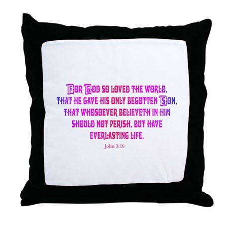 John 3:16 Rainbow II Throw Pillow
