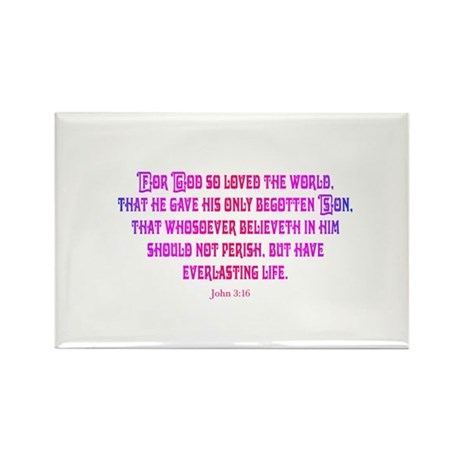 John 3:16 Rainbow II Rectangle Magnet (10 pack)