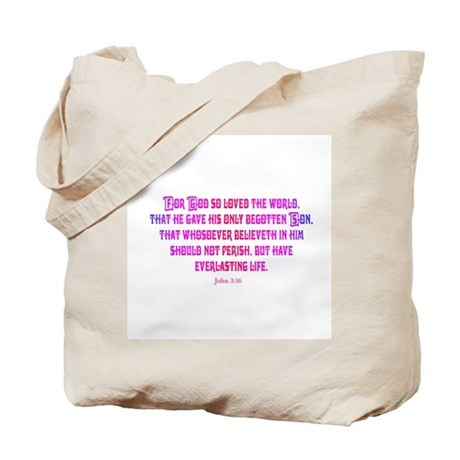 John 3:16 Rainbow II Tote Bag
