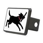 Playful Black Lab Rectangular Hitch Cover