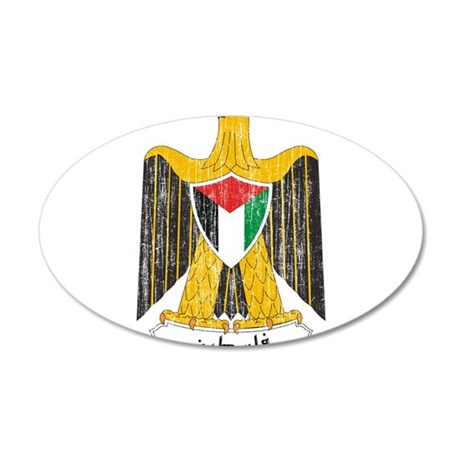 Palestine Coat Of Arms 35x21 Oval Wall Decal