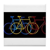 Bicyclesin3ColorsBig.jpg Tile Coaster