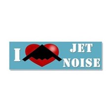 """I Heart Jet Noise"" Car Magnet 10 x 3"