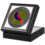 Celtic Crow Multi Color Keepsake Box