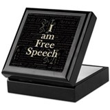 I am Free Speech Dark Keepsake Box