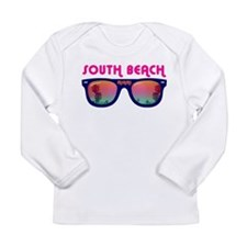 South Beach Miami Long Sleeve Infant T-Shirt