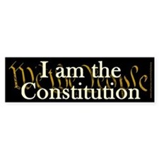 I am the Constitution Bumper Sticker