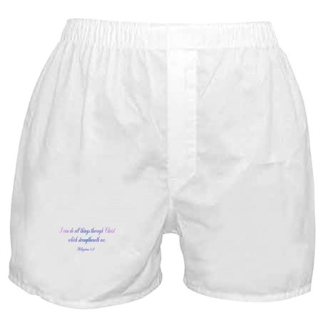 Philippians 4:13 Boxer Shorts