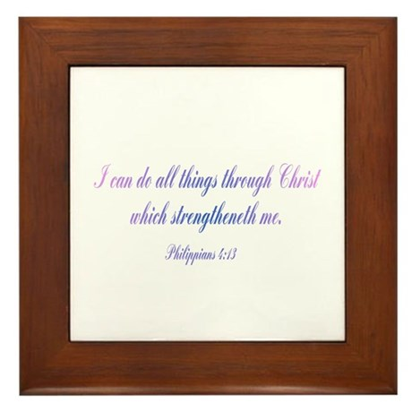 Philippians 4:13 Framed Tile