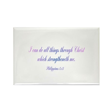 Philippians 4:13 Rectangle Magnet (10 pack)