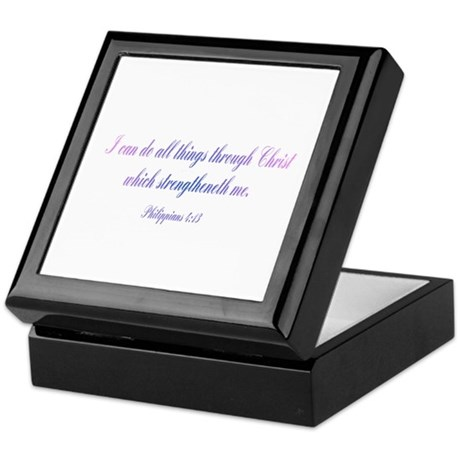 Philippians 4:13 Keepsake Box