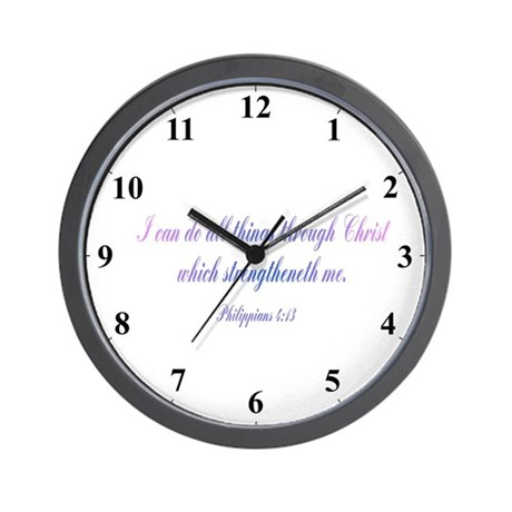Philippians 4:13 Wall Clock