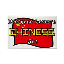 Chinese Girl Rectangle Magnet