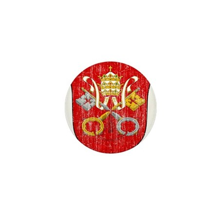 Vatican City Coat Of Arms Mini Button (10 pack)