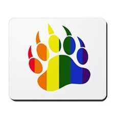 Gay Pride Paw Mousepad