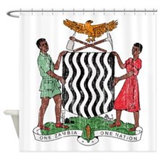 Zambia Coat Of Arms Shower Curtain