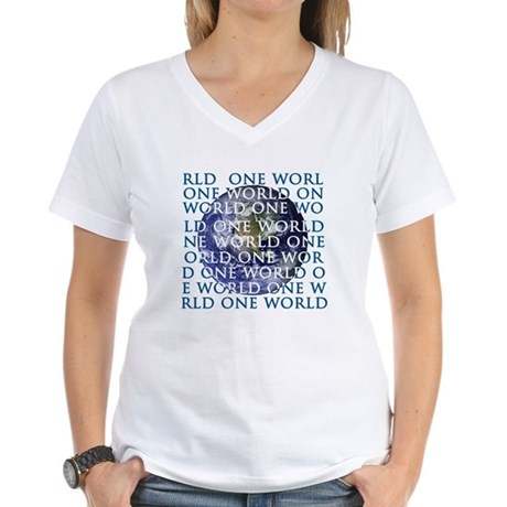 One World Women's V-Neck T-Shirt