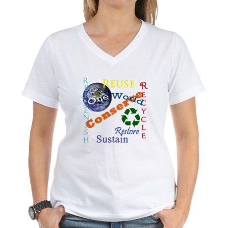Conserve Women's V-Neck T-Shirt