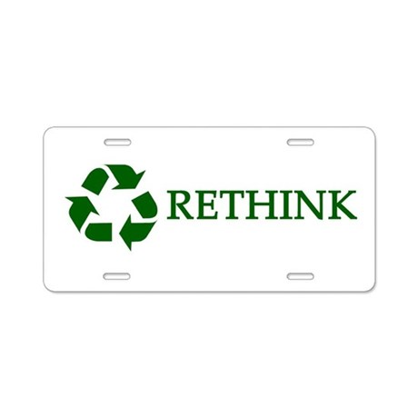 Rethink Aluminum License Plate