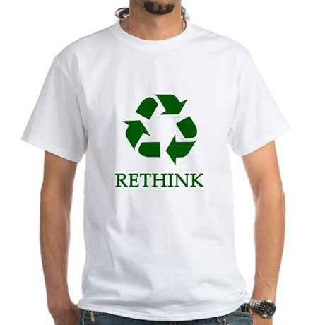 Rethink White T-Shirt
