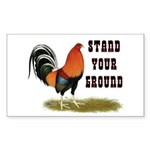 Stand Your Ground Rooster Sticker (Rectangle)