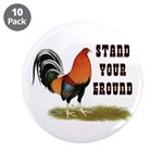 "Stand Your Ground Rooster 3.5"" Button (10 pac"