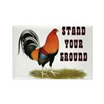 Stand Your Ground Rooster Rectangle Magnet (10 pac
