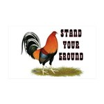 Stand Your Ground Rooster 35x21 Wall Decal