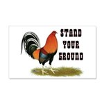 Stand Your Ground Rooster 20x12 Wall Decal