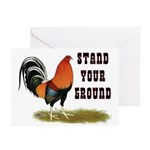 Stand Your Ground Rooster Greeting Cards (Pk of 10