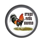 Stand Your Ground Rooster Wall Clock