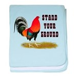 Stand Your Ground Rooster baby blanket
