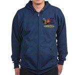 Stand Your Ground Rooster Zip Hoodie (dark)