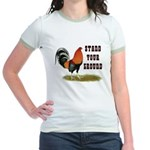 Stand Your Ground Rooster Jr. Ringer T-Shirt