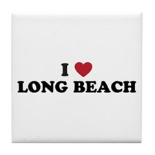 I Love Long Beach California Tile Coaster