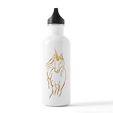 Unicorn-print Water Bottle
