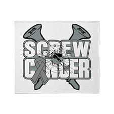 Screw Brain Cancer Throw Blanket