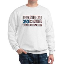 20 birthday designs Sweatshirt