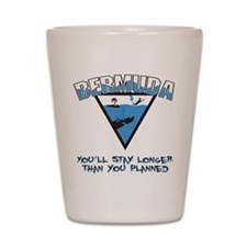 Bermuda Triangle Shot Glass