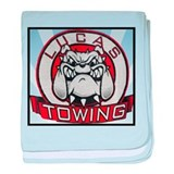 Lucas Towing Logo NEW baby blanket