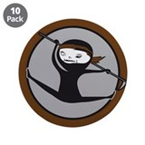 "Brown Belt Ninja 3.5"" Button (10 pack)"